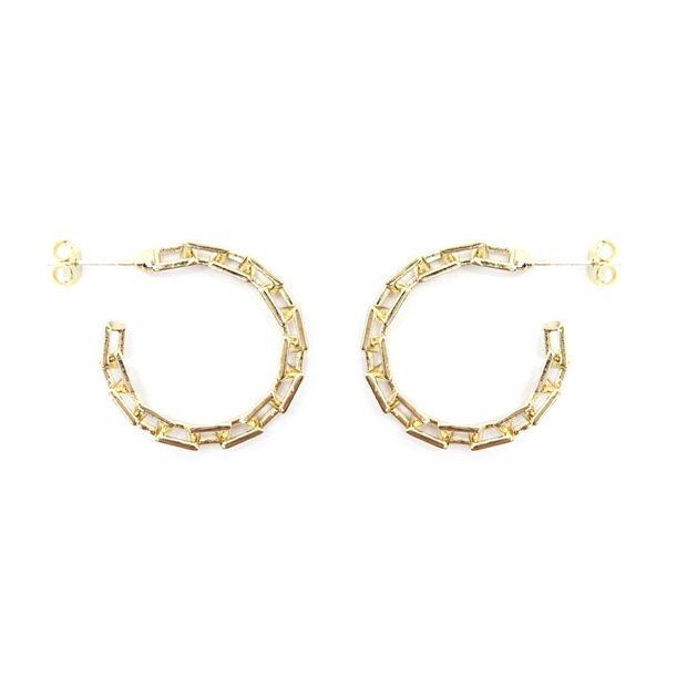 KIKICHIC Small Size Thin Link Chain Hoop Earrings Silver and 18k Gold, Thin Chain Link Thick Small Hoop Earrings, Silver Thin Chain Link Hoop Lightweight Earrings, Small Chain Link Open Hoop Earrings, Lightweight Small Chain Link Hoop Earrings, Oval Link Chain Gold Hoops Earrings, Silver Chain Link Hoop Earrings.