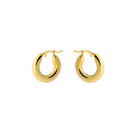 KIKICHIC 14k Gold Small Thick Hoops Earrings, Silver Thick Hoops Earrings, Baby Thick Hoops, Tube Hoops Earrings Hypoallergenic, 14k Gold Chunky Lightweight Hoops Earrings, Gold Filled Hoops Earrings, Classic Thick Hoops Silver, 20mm Size Hoops Gold, High Polish Hoops Earrings.