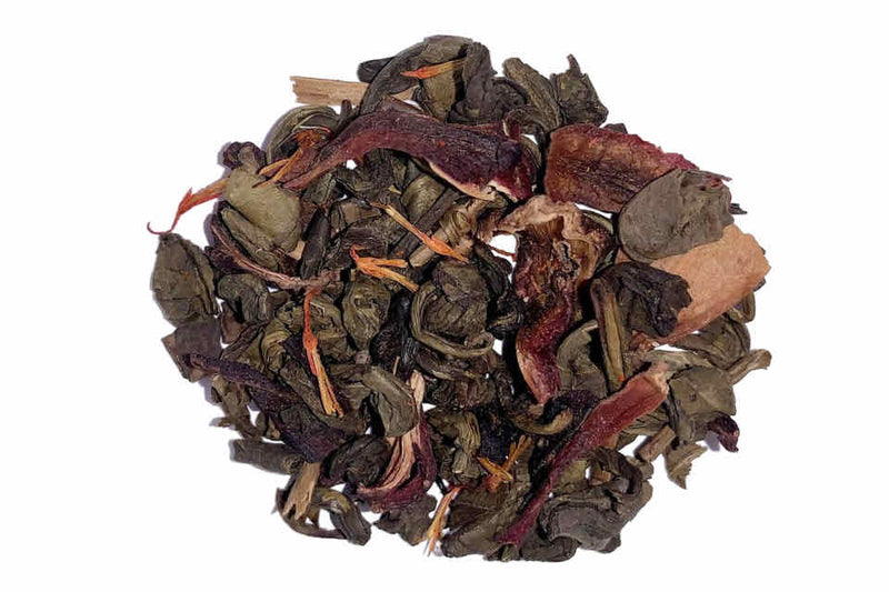 Raspberry Hibiscus Tea. The Tea Time Shop