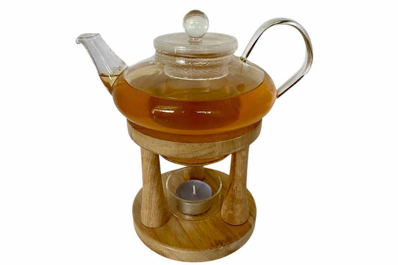 Glass Teapot with Candle Warmer. The Tea Time Shop