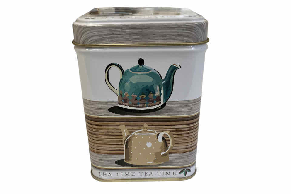 Tea Time Teapot Canister. The Tea Time Shop