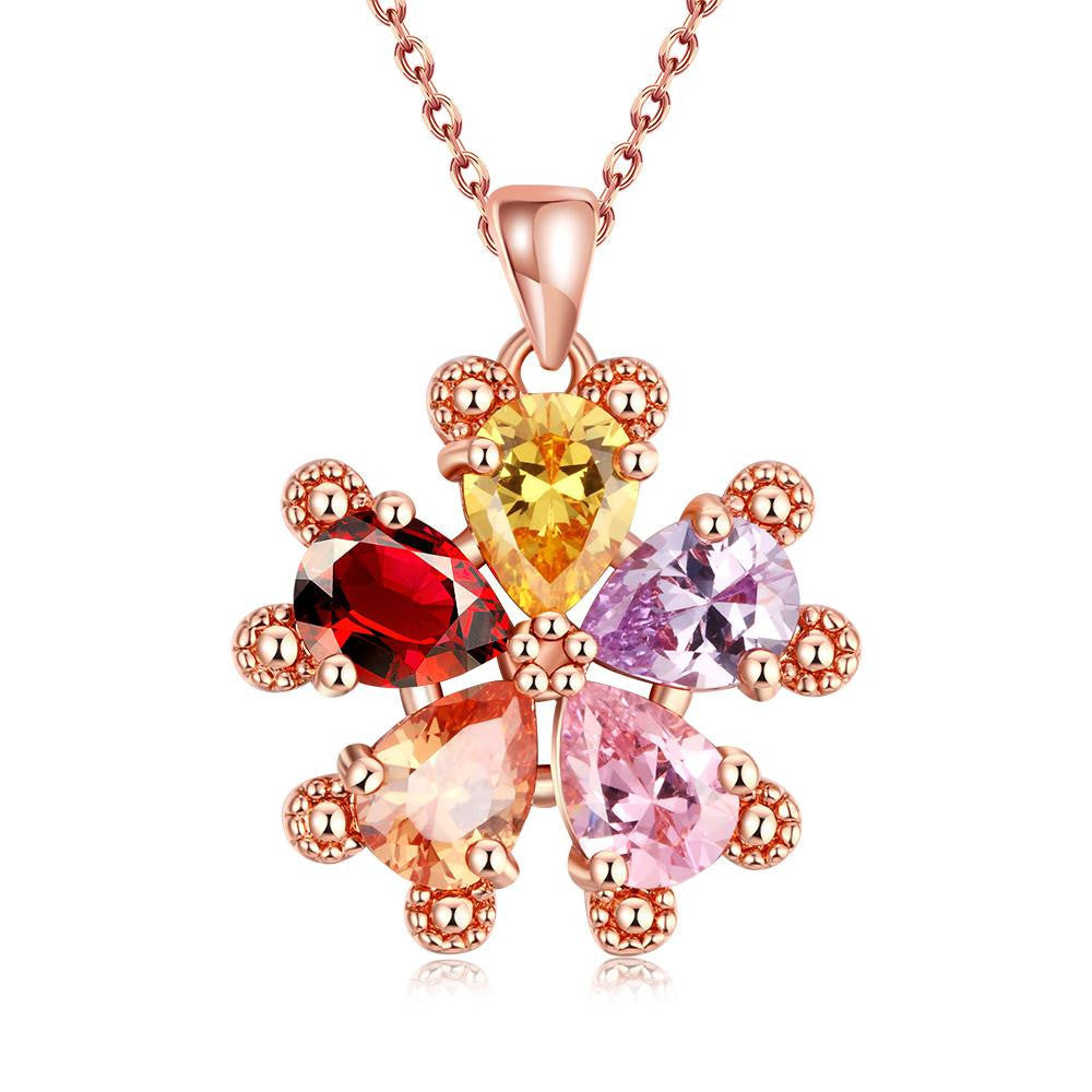 Rose gold plated snowflake necklace javiers one stop gift solution rose gold plated snowflake necklace aloadofball Images