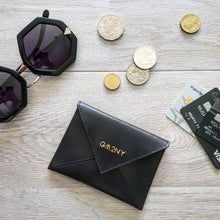 Black Leather Mini Wallet