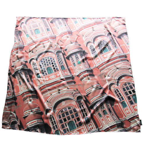 Pink City 100% Silk Scarf