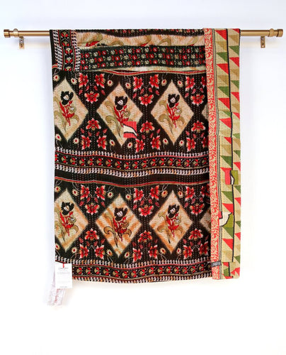 Kantha Throw Diamond