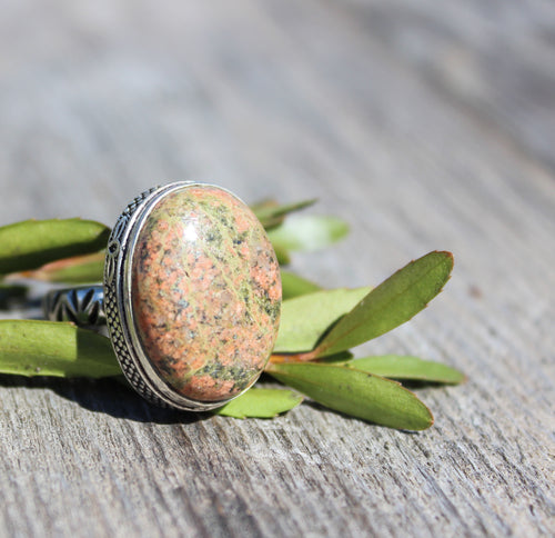 Rainforest Jasper Ring