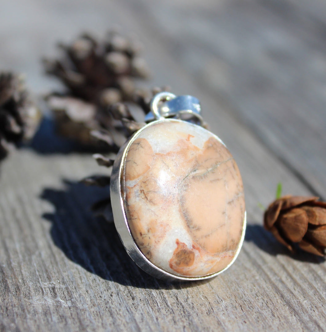 Ocean Jasper pendant handcrafted in India