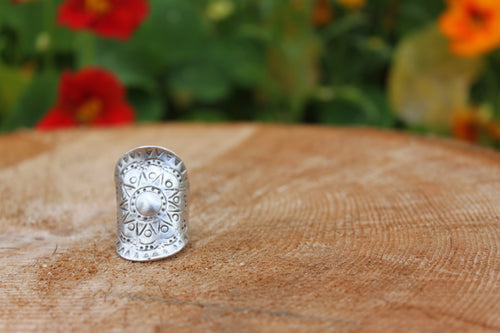 Silve plated ring handcrafted in Turkey