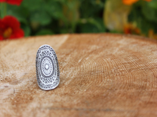 Silver plated ring handcrafted in India