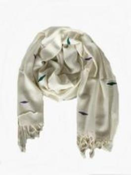Ivory & Coloured Diamonds Scarf