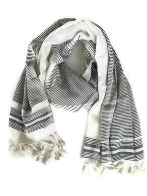 Grey & White Scarf