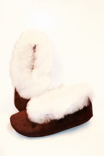 Alpaca slippers- Snow white