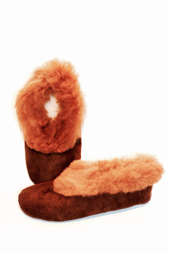 Alpaca slippers- Chocolate