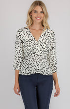 ROXY PRINTED WRAP TOP - White