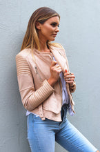 BETTINA BIKER JACKET - Nude