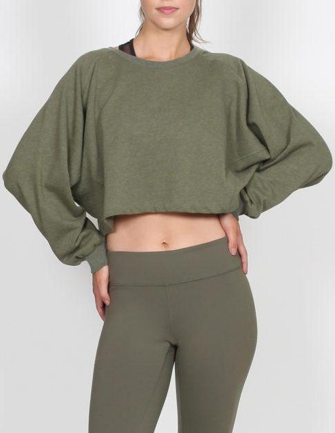 BELLE BODY CROP JUMPER - Khaki