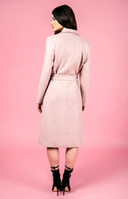 LIANA DRAPED COLLAR COAT - Blush