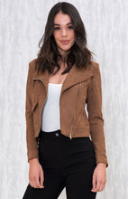 SAMIRA VEGAN SUEDE JACKET - Tan