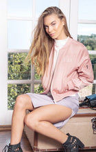 BELLA BOMBER JACKET - Blush