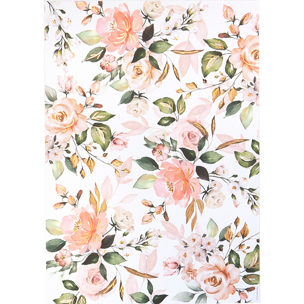 A4 Watercolour Floral (5 pack)