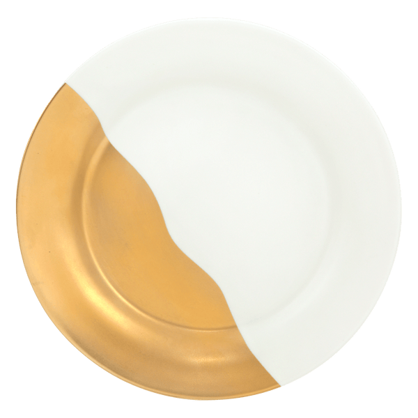 Side Plate Artist's Gold White