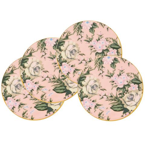 Belle De Fleur Set of 4 Drink Coasters - Cristina Re Designs