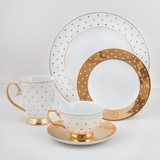 Bowl Gold Polka Dot - Cristina Re Design