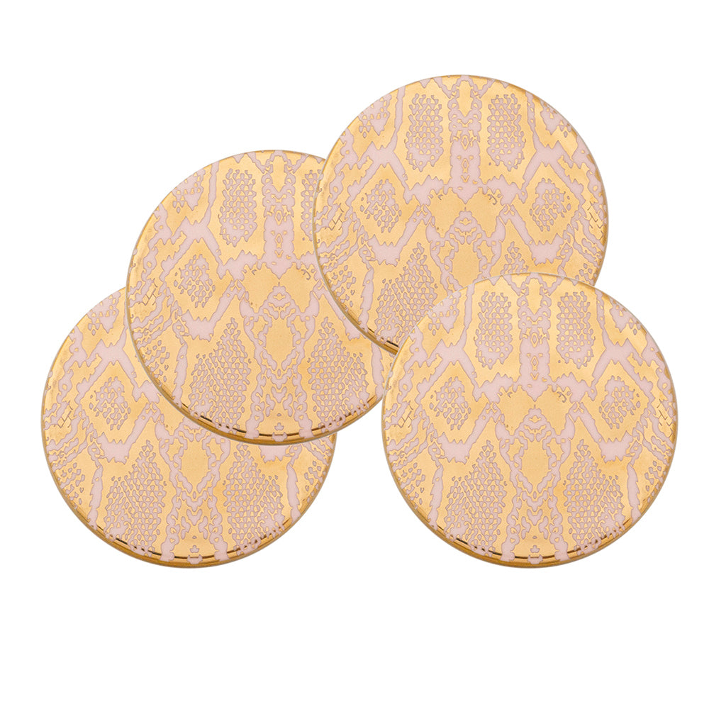 Safari Snakeskin Set Of 4 Drink Coasters Cristina Re Designs