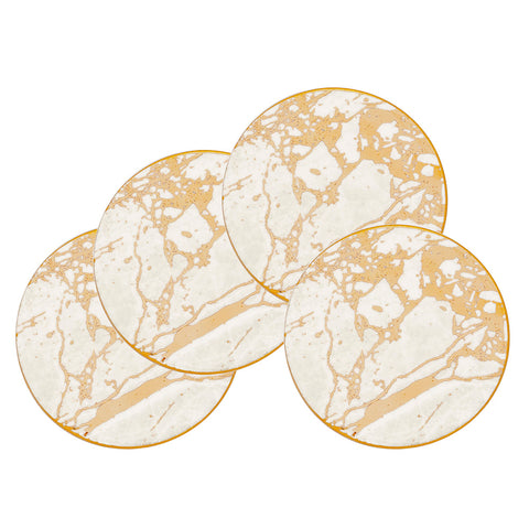 White Celestite Set of 4 Drink Coasters - Cristina Re Design