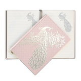 A5 Hard Cover Peacock Blush