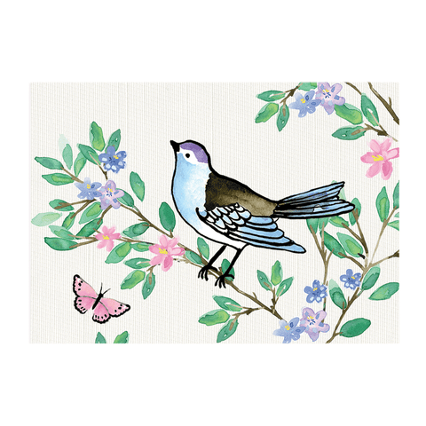 A6 Card and Envelopes Bluebird Floral (10 Pack) - Cristina Re Designs