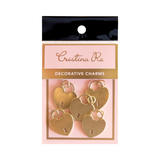 Decorative Charms - Heart Locket Gold - Cristina Re Designs