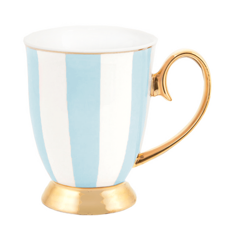 Mug Powder Blue Stripes
