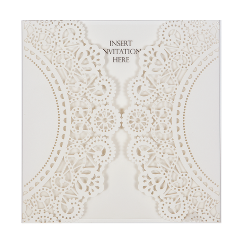 SQ Lasercut Wallet Doily Ivory - Cristina Re Design