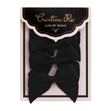 Grosgrain Bows Ebony - Cristina Re Designs