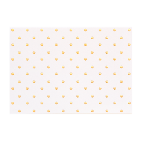 A6 Card and Envelopes Gold Polka PK10 - Cristina Re Design