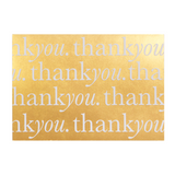 A6 Card and Envelopes Gold Thank You PK10 - Cristina Re Designs