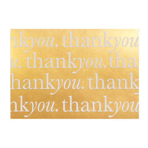 A6 Card and Envelopes Gold Thank You (10 Pack) - Cristina Re Design