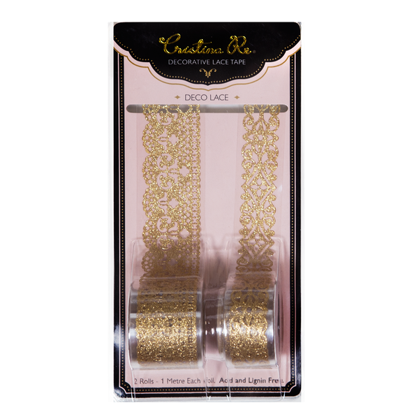 Deco Lace Gold Glitter - Cristina Re Designs