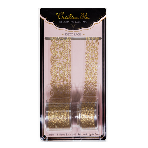 Deco Lace Gold Glitter - Cristina Re Design