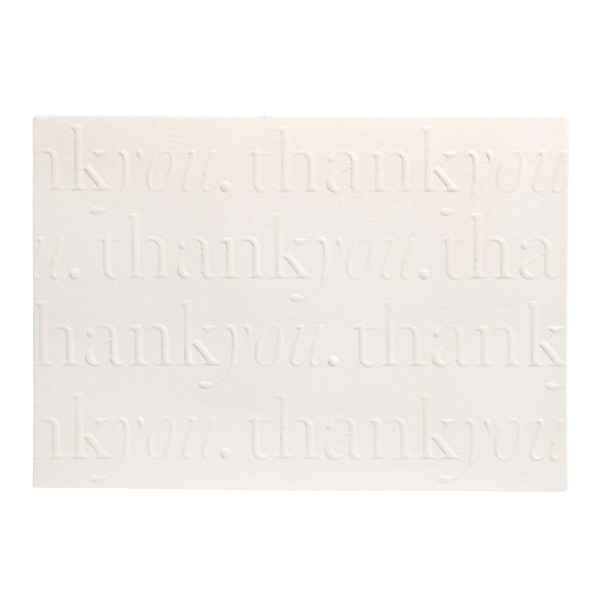 A6 Thank You Cards and Envelopes Pearl PK10 - Cristina Re Designs