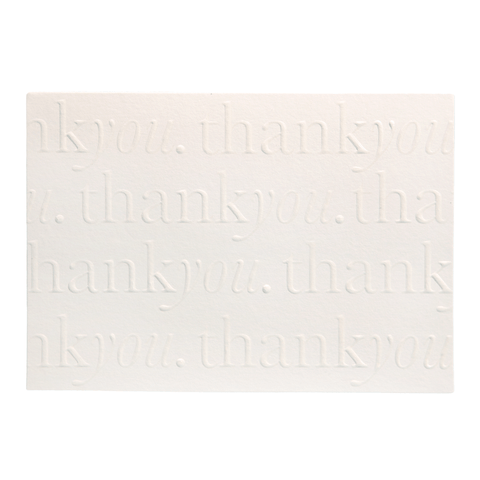 A6 Thank You Cards and Envelopes Pearl (10 Pack) - Cristina Re Designs