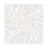 SQ Lasercut Wallet Quartz White PK5 - Cristina Re Design