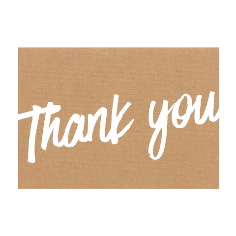 A6 Cards and Envelopes Natural Thank You (10 Pack) - Cristina Re Design