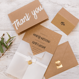 A6 Cards and Envelopes Natural Thank You (10 Pack) - Cristina Re Designs