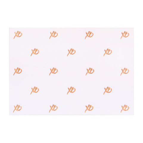 A6 Card and Envelopes Rose Gold XO PK10 - Cristina Re Design