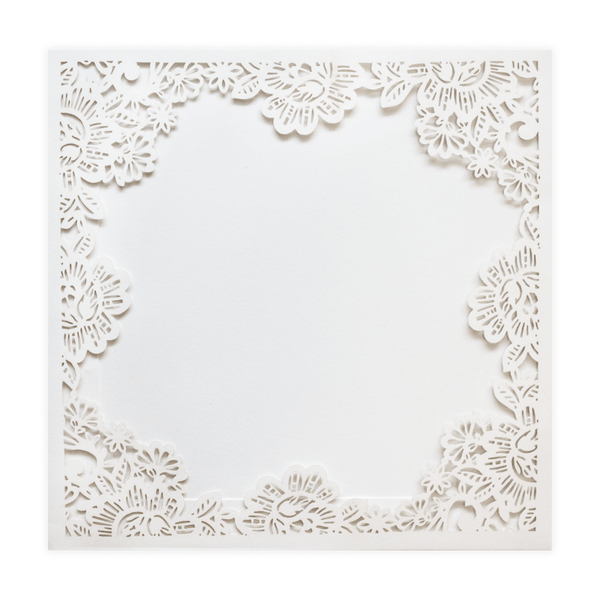 SQ Floral Frame Pocket - Cristina Re Designs