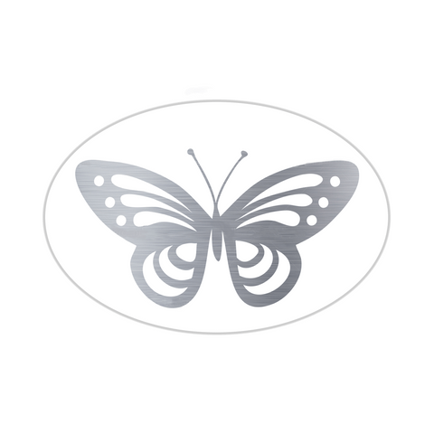 Metallic Butterfly Silver (50 Qty) - Cristina Re Designs