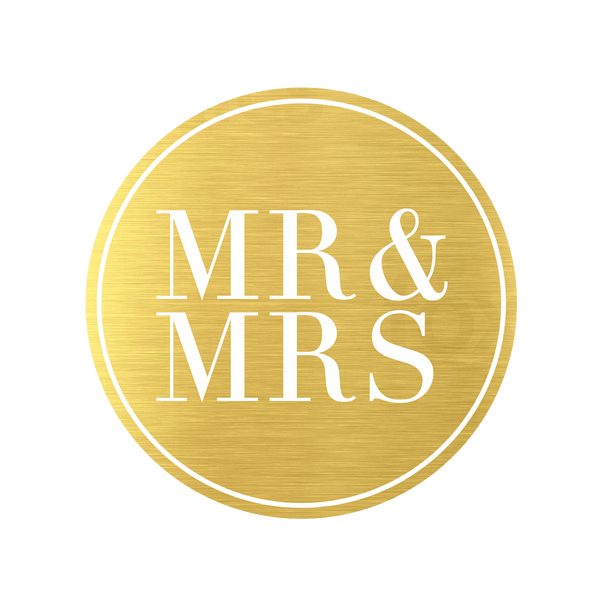 Metallic Mr and Mrs Gold - Cristina Re Design
