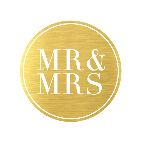 Metallic Mr and Mrs Gold (50 Qty) - Cristina Re Designs